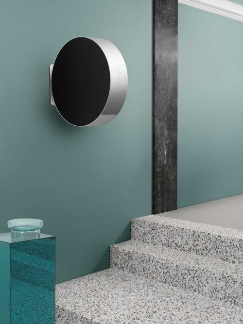 The BeoSound Edge by Bang & Olufsen is a cutting edge speaker with innovative design.