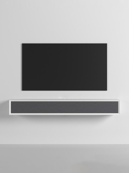 A super stylish furniture piece to mount on the wall under your TV.
