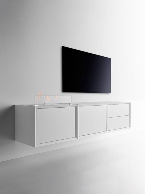 Clic Danish furniture with fireplace